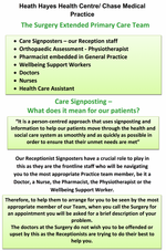 Care Signposting – What does it mean for our patients?